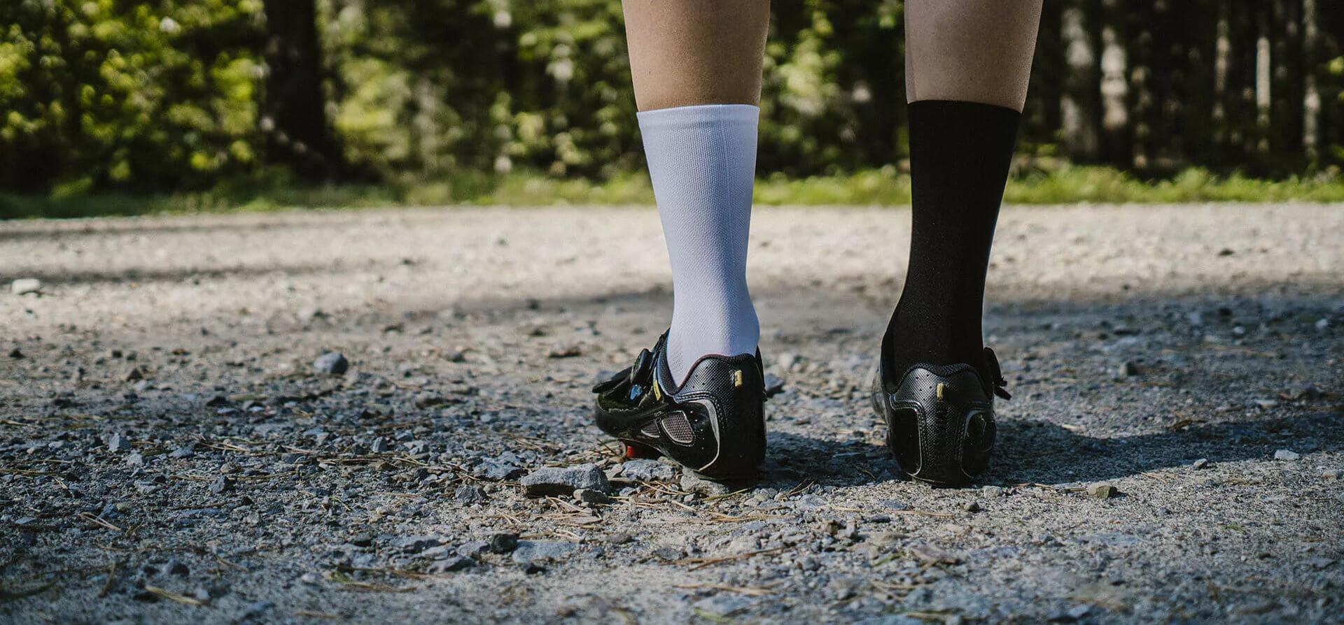 black-white-cycling-socks