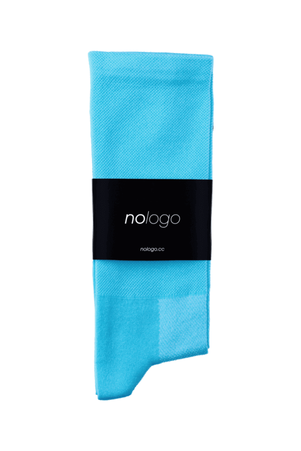 nologo light blue cycling socks product photo
