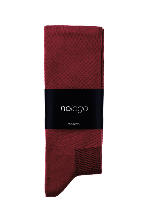 nologo burgundy cycling socks product photo