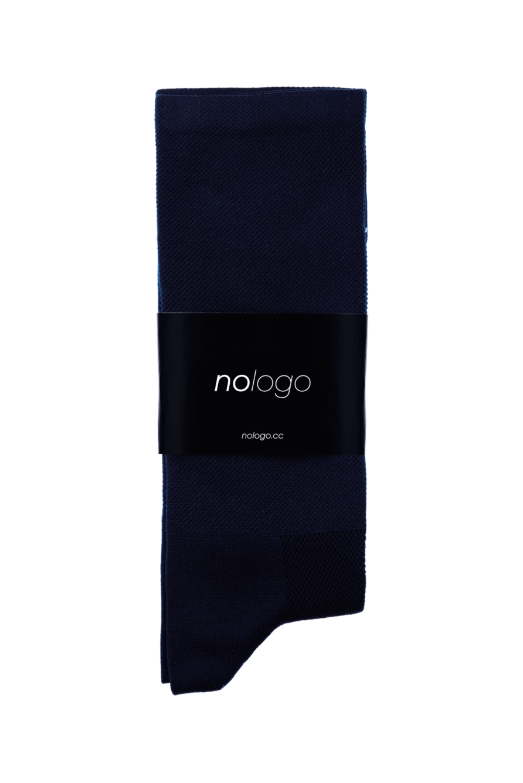 nologo dunkelblaue radsocken produktfoto
