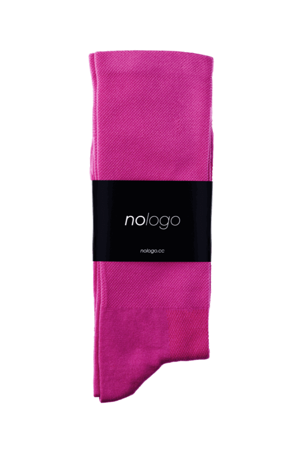 nologo fuchsia cycling socks product photo