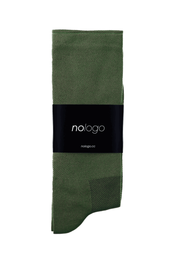nologo khaki green cycling socks product photo