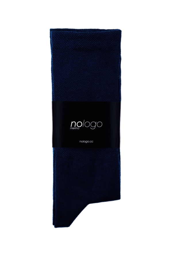 nologo merino dark blue cycling socks product photo