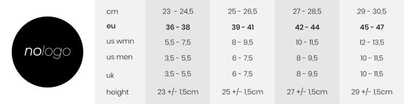 nologo-socks-size-chart-tabela