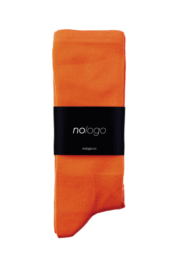 nologo orange cycling socks product photo