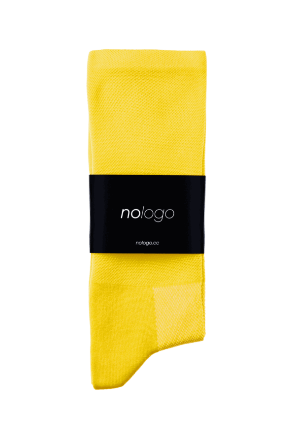 nologo yellow cycling socks product photo