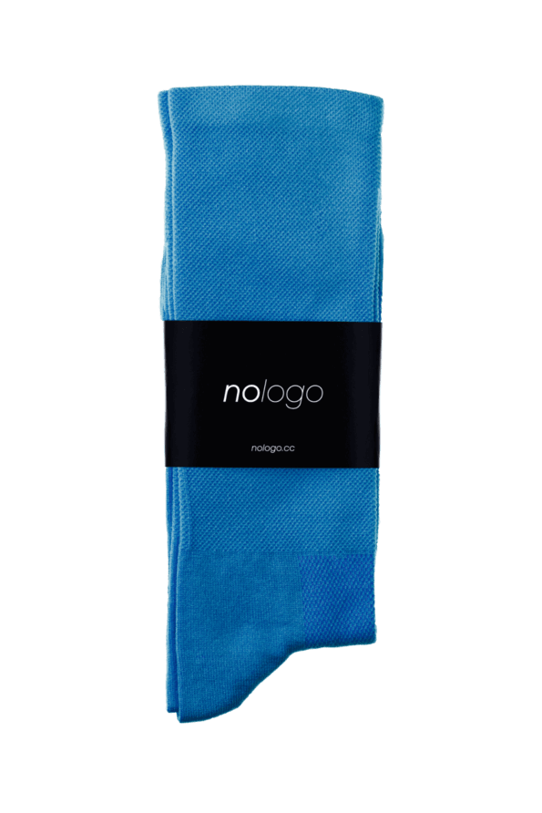 nologo blue cycling socks