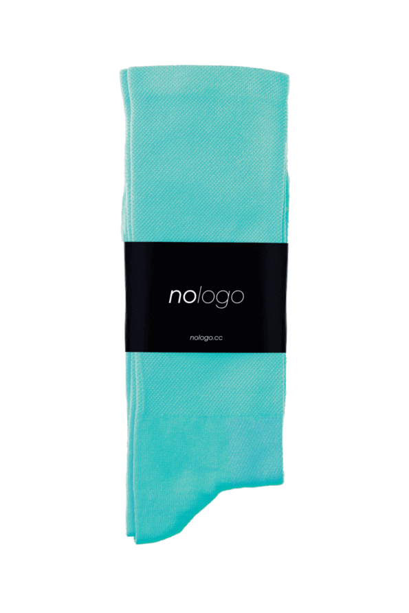 nologo celeste cycling socks