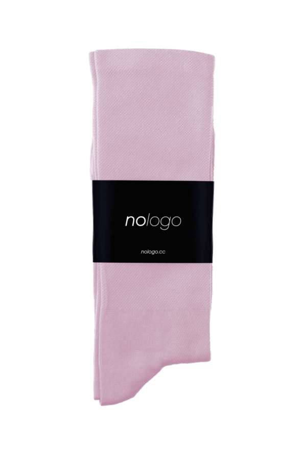 nologo powder pink cycling socks